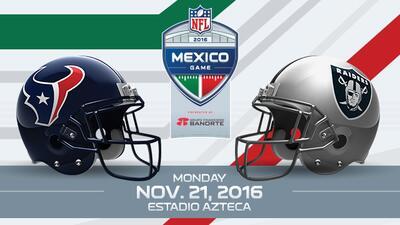 Inicia venta de boletos para el juego de NFL en la Ciudad de México entre Raiders y Texans