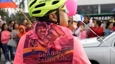 """""""Es una gran emoción ver a un ecuatoriano hacer algo así"""": el recibimiento a Richard Carapaz tras ganar el Giro de Italia"""