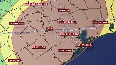 San Valentín llegará a Houston con un clima tormentoso