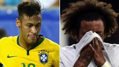 Neymar encabeza convocatoria de Brasil con la baja de Marcelo por lesión