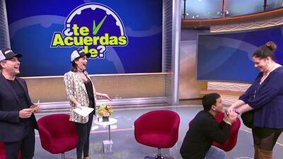 """Tito 'El Bambino' le pidió matrimonio en TV """"a la novia"""" de Carlos Calderón (que moría por conocerlo)"""