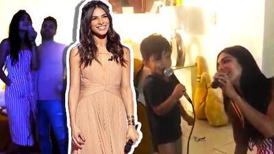 Alejandra Espinoza pone a suspirar a más de uno cantando con su esposo e hijo