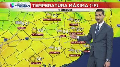 El frente que se aproxima a Houston hará desaparecer las lluvias para este miércoles