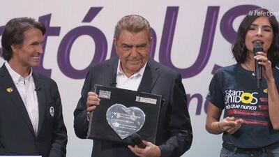 Don Francisco regresa a Univision para recibir el reconocimiento por su legado al crear el Teletón