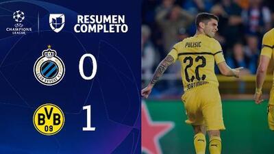 Brujas 0-1 Borussia Dortmund - GOL Y RESUMEN - Grupo A UEFA Champions League