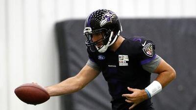 Joe Flacco está listo para jugar el domingo con los Ravens