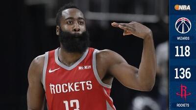 Los Rockets rompen el récord histórico de triples de la NBA