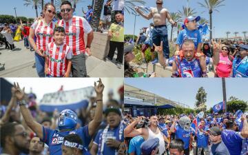 Gran ambiente le pusieron cruzazulinos y necaxistas previo a la Supercopa MX en LA