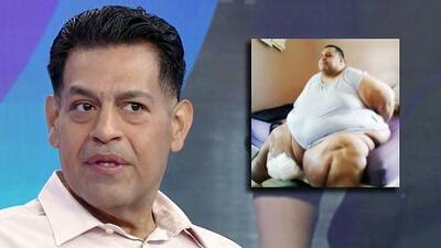 """Hospitalizado con """"vergüenza y pánico"""", este hombre tomó la decisión de perder las 831 libras por las que pudo morir"""