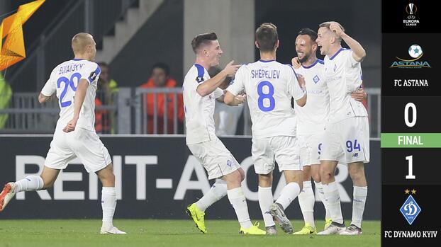Con un golazo y algo de suerte, el Dynamo de Kiev venció al Astana y se clasificó a la siguiente fase