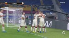 ¡Contragolpe letal! Džeko hace el 1-1 y encamina a la Roma a Semifinales