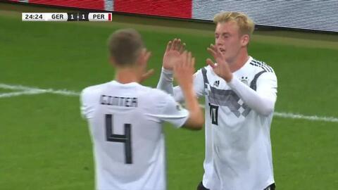 ¡Goool teutón! Alemania reacciona y pone la igualada por conducto de Julian Brandt