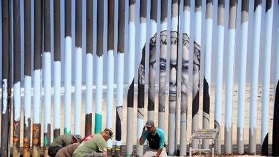 La parte de México donde el muro fronterizo se volvió una obra de arte interactiva para contar historias de deportados