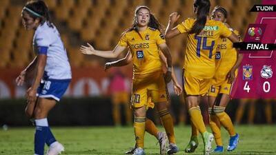 ¡Sin piedad! Tigres golea a Puebla y recupera la sonrisa
