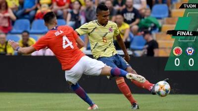 Gris empate de Colombia y Chile con presencia 'mexicana'