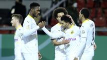 Borussia y Leipzig caminan en la Copa