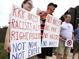 """Opositores al supremacismo toman las calles de Washington: """"Ni nazis, ni racistas, ni ahora, ni nunca"""""""