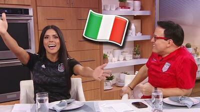 Francisca Lachapel tartamudea y se pone nerviosa al contar que visitará a sus suegros en Italia