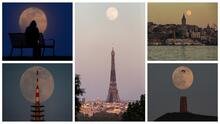En fotos: de Estambul a Washington, así se vio la superluna rosa en todo el mundo