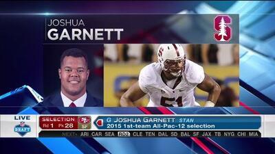 Pick 28 (San Francisco 49ers): Joshua Garnett, G, Stanford