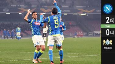 Verdi y Ounas sentencian el pase de Napoli a Octavos de Final en Europa League