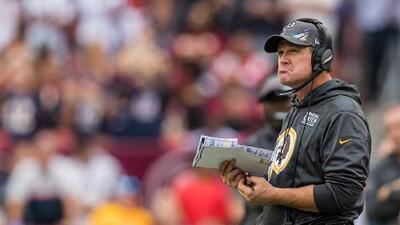 Los Redskins despiden a su entrenador en jefe, Jay Gruden