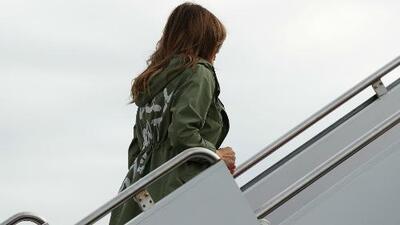 'I really don't care', el polémico mensaje de la chaqueta de Melania Trump en su viaje a Texas