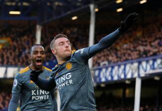 En fotos: Jamie Vardy anota el primer gol del 2019 y Leicester vence al Everton