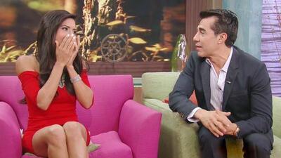 ¡Una fan emocionada! Francisca se puso nerviosa frente a Adrián Uribe