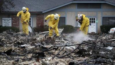 Aunque el devastador fuego de California ya dejó de arder, sigue subiendo cifra de víctimas mortales