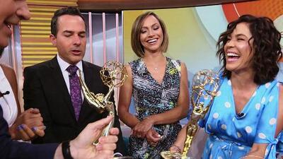 """Nuestro segundo Emmy ya está en casa y así de felices le dimos la bienvenida: """"Es gracias a ustedes"""""""