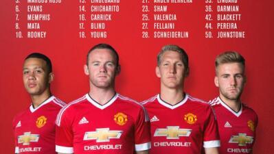 Manchester United dio a conocer sus dorsales para la temporada 2015-16