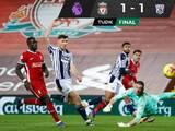 West Bromwich sorprende y le saca valioso empate al Liverpool