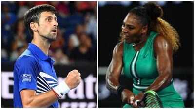 Djokovic y Serena siguen vivos y buscando récords en el Abierto de Australia