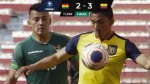 Ángel Mena hizo golazo en el triunfo de Ecuador ante Bolivia
