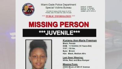 Continúa la intensa búsqueda de una adolescente que fue reportada como desaparecida en Miami-Dade