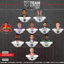 Carlos Vela y Darwin Quintero comandan a puro gol el Equipo de la Semana en la MLS
