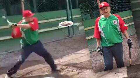 (Video) AMLO demuestra que pudo haber jugado en las Grandes Ligas de béisbol