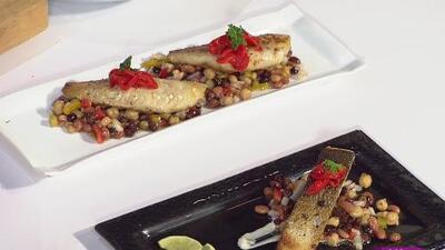 La receta: filetes de pescado y salmón con verduras