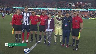 Chava Cabañas, presente y reconocido previo al América vs Monterrey