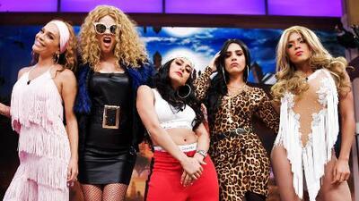 El inesperado encuentro entre JLo, Thalía y Paulina Rubio en el Halloween de Despierta América