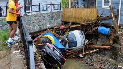 Devastación en pueblo de Maryland tras impresionantes inundaciones