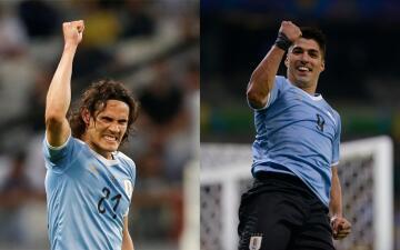Edinson Cavani y Luis Suárez pasan el examen en triunfo de Uruguay ante Ecuador