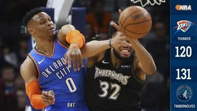 Towns apaga el regreso de Paul George y los Timberwolves vencen al Thunder