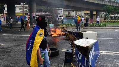 Protestas y disturbios durante votación de constituyente en Venezuela