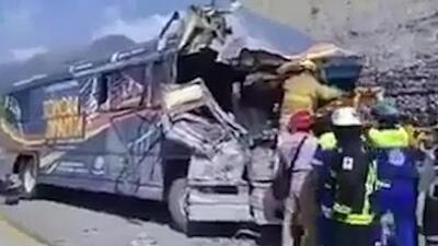 En video: imágenes del accidente donde viajaba 'La sonora dinamita'