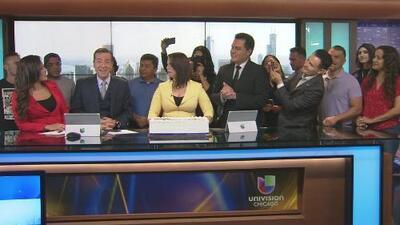 Así despidió el equipo de Noticias Univision Chicago a Jorge Barbosa