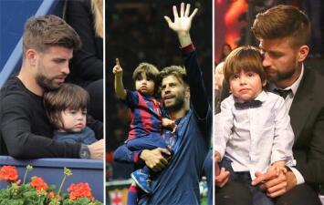 Las fotos más dulces de Gerard Piqué y Milan