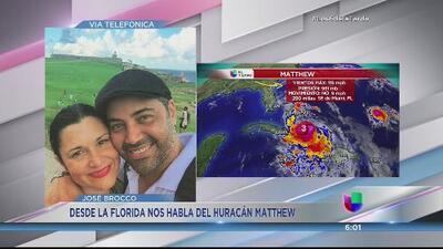 José Brocco habla de su experiencia con el huracán Matthew