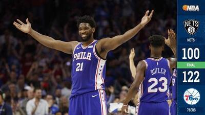 Sin contratiempos, los 76ers avanzan al eliminar a los Nets en 5 juegos